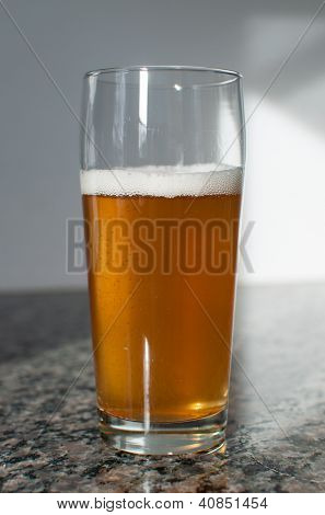 Craft Beer Glass With Blonde Beer