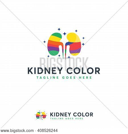 Kidney Color Logo Designs Concept Vector, Colorful Kidney Logo, Kidney Care Logo Template