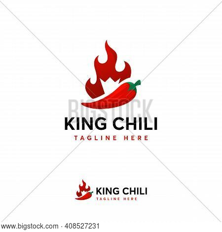Hot Chili Logo Designs Concept Vector, Fire Chili Logo Symbol, Spice Food Symbol Icon