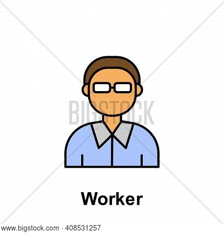 Worker Outline Icon. Element Of Labor Day Illustration Icon. Signs And Symbols Can Be Used For Web,