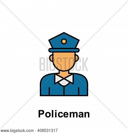 Policeman Outline Icon. Element Of Labor Day Illustration Icon. Signs And Symbols Can Be Used For We