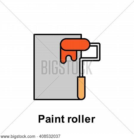 Paint Roller Outline Icon. Element Of Labor Day Illustration Icon. Signs And Symbols Can Be Used For