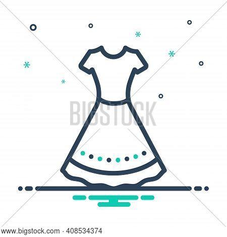 Mix Icon For Dress Frok Cloths Fashion Costume Attire Raiment Garment