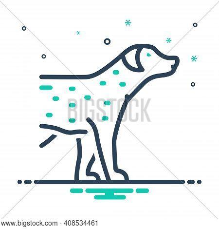 Mix Icon For Pet Tame Faithful Dog Domestic Animal Cherished Endearing