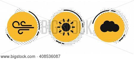 Flat Style Coloured Weather Forecast Icons Set