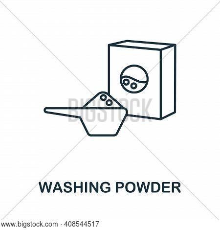 Washing Powder Icon. Simple Illustration From Laundry Collection. Creative Washing Powder Icon For W