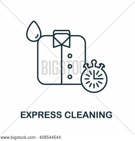 Express Cleaning Icon. Simple Illustration From Laundry Collection. Creative Express Cleaning Icon F