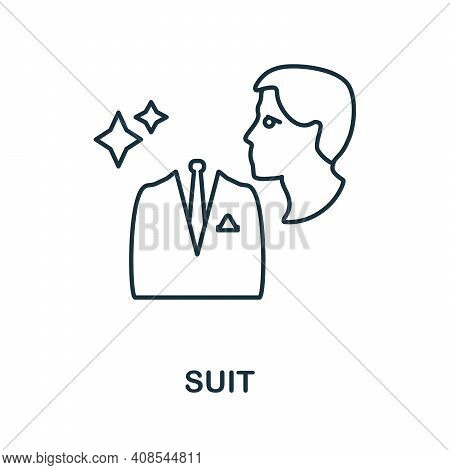 Suit Icon. Simple Illustration From Laundry Collection. Creative Suit Icon For Web Design, Templates