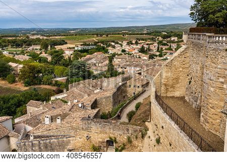 The Grignan Chateau, Department Drome, Rhone-alpes In France Is A Fortified Castle Dating Back To Th