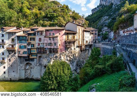 Pont En Royans, A Charming Picturesque Medieval Village In The Vercors National Park Near The Isere