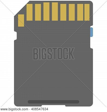 Computer Cpu Microchip Vector Isolated On White