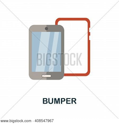 Bumper Flat Icon. Color Simple Element From Phone Accessories Collection. Creative Bumper Icon For W