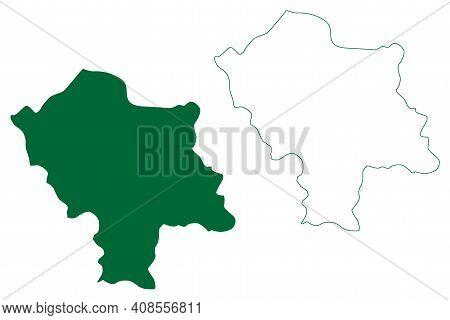 East Kameng District (arunachal Pradesh State, Republic Of India) Map Vector Illustration, Scribble