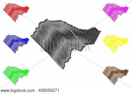 Columbus County, North Carolina State (u.s. County, United States Of America, Usa, U.s., Us) Map Vec
