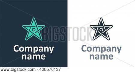 Logotype Pentagram Icon Isolated On White Background. Magic Occult Star Symbol. Logo Design Template