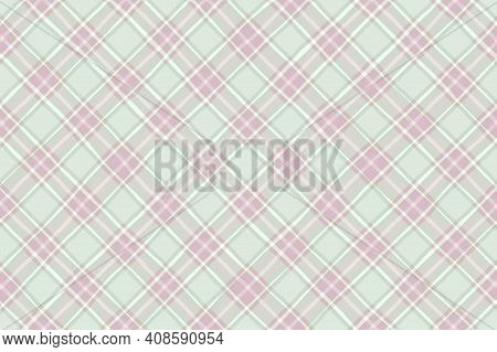 Pink Gray White Green Vintage Checkered Background. Space For Graphic Design. Checkered Texture. Cla