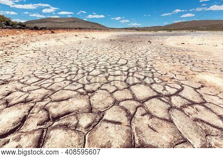 drought land in deserted mountains