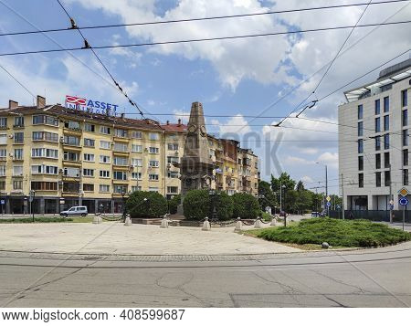Sofia, Bulgaria - March 7, 2019:  Monument To Bulgarian Revolutionary And National Hero Vasil Levski