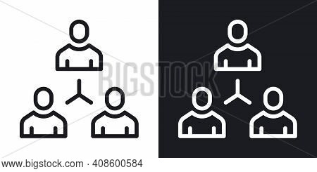 Communication, Social Connections Or Social Network Icon. Simple Two-tone Vector Illustration On Bla