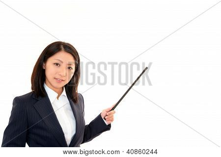 Woman make a presentation