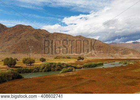 Chu River, Kyrgyzstan, Border Between The Issyk-kul Region And The Naryn Region