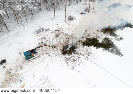 Elimination Of Breakage Of Electrical Networks From Snowfall.
