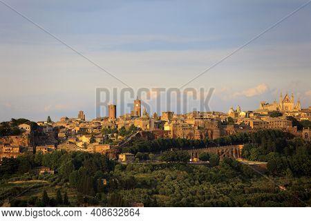 Orvieto (tr), Italy - May 10, 2016: View Of Orvieto Town, Terni, Umbria, Italy