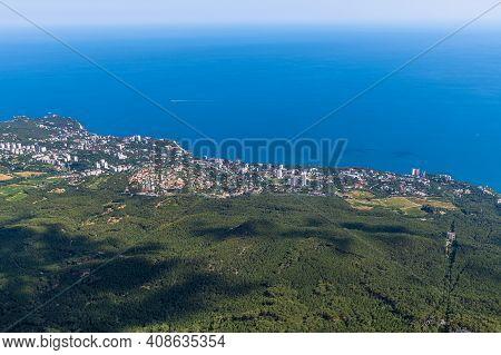 View Of Gaspra And Koreiz Resort Villages From A Height, Crimea