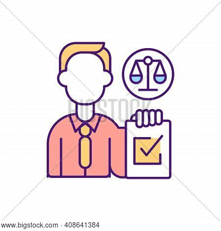 Balance Documents Agreements Rgb Color Icon. Contract Management Company Development. Signing Digita