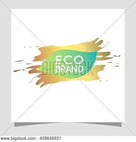 Natural Vectors For Skin Care. Bio Organic Golden Eco Green Labels For Bio And Natural Food With Tex