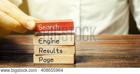Wooden Blocks With The Word Serp - Search Engine Results Page. Pages Displayed By Search Engines In