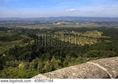 Monteleone D\' Orvieto (tr), Italy - May 27, 2016: Landscape Around Monteleone D\' Orvieto Village,