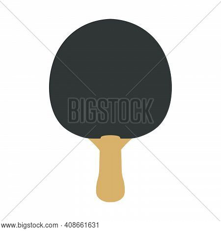Sport Ping Pong Paddle Tennis Game Racket Competition Play Equipment. Isolated Ping Pong Object Icon