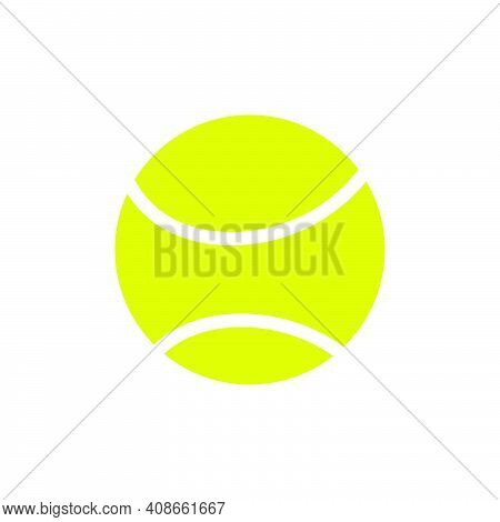Sport Vector Tennis Ball Game Icon Equipment Illustration. Symbol Tennis Ball Green Isolated Sphere