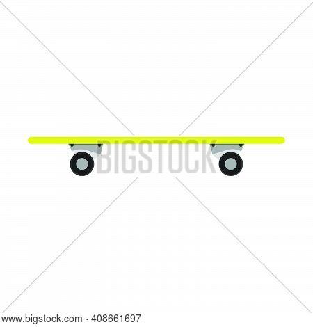 Skateboard Sport Extreme Vector Illustration Icon. Skateboarding Wheel Urban Style Lifestyle Element