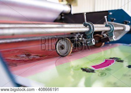 Press Printing Printshop Offset Machine. Offset Press Is A Printing Machine Designed To Produce Fine