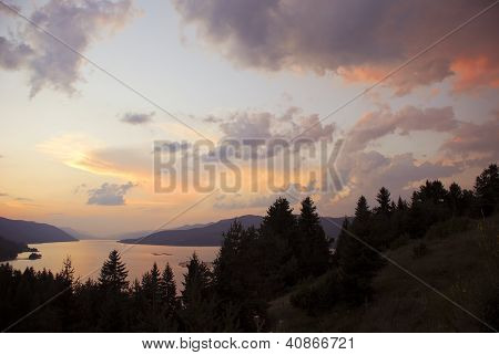 Dam Dospat in mountain Rodopi, Bulgaria