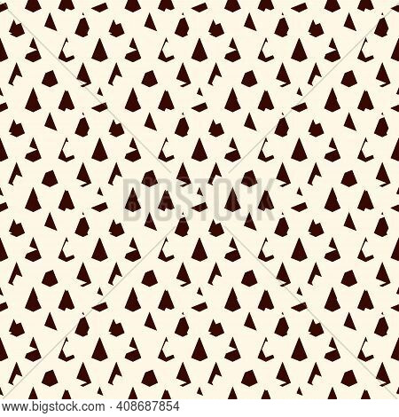 Seamless Surface Pattern With Repeated Mini Triangles. Distressed Geometric Figures. Grunge Abstract