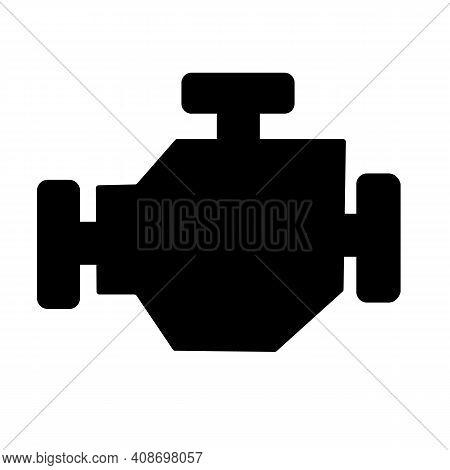 Engine Icon On White Background. Engine Sign. Flat Style. Car Engine Symbol.