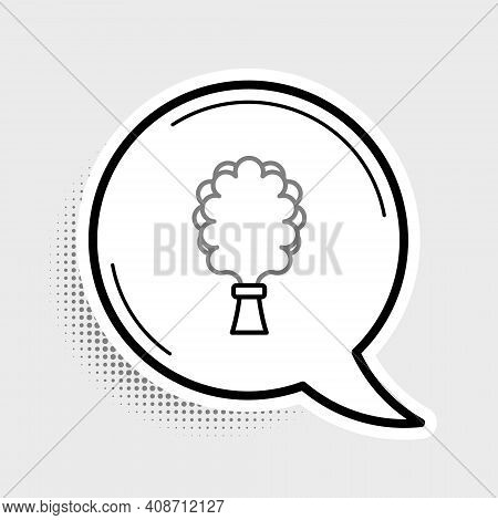 Line Sauna Broom Icon Isolated On Grey Background. Broom From Birch Twigs, Branches For Russian Stea