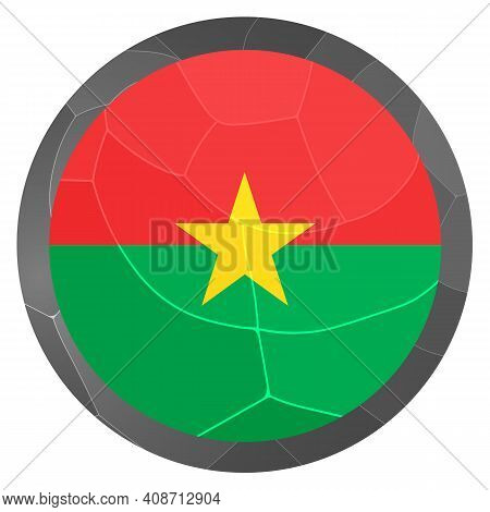 Glass Light Ball With Flag Of Burkina Faso. Round Sphere, Template Icon. National Symbol. Glossy Rea