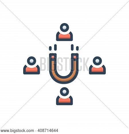Color Illustration Icon For Attractive Tempting Seductive Absorbing Catching