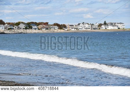 Hampton, Nh - Oct 3: Hampton Beach State Park In Hampton, New Hampshire, As Seen On Oct 3, 2020.