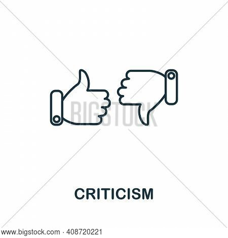 Criticism Icon. Simple Element From Management Collection. Creative Criticism Icon For Web Design, T