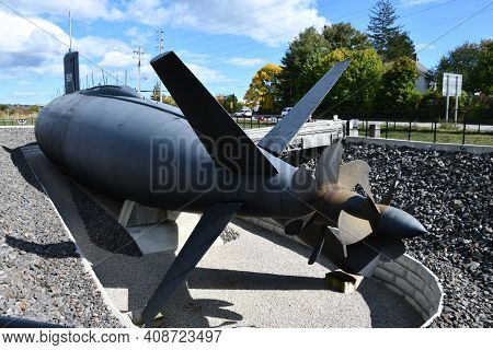 Portsmouth, Nh - Oct 3: The Uss Albacore Submarine (agss-569) In Portsmouth, New Hampshire, As Seen