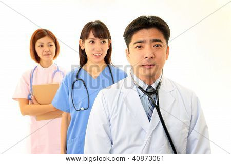 Asian medical staff