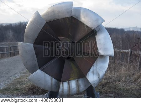 A Rusty And Old Francis Turbine
