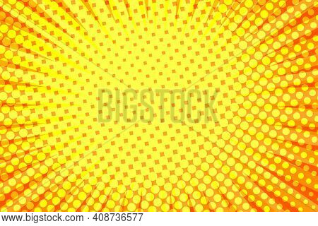 Striped Colorful Rays Background. Pop Art Creative Concept Colorful Comics Book Magazine Cover. Cart