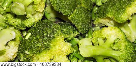 Broccoli Top View.background And Broccoli.asparagus And Broccoli.fresh Green Broccoli Full Of Vitami