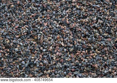 Gravel Texture Background. Small Gravel Stones Top View